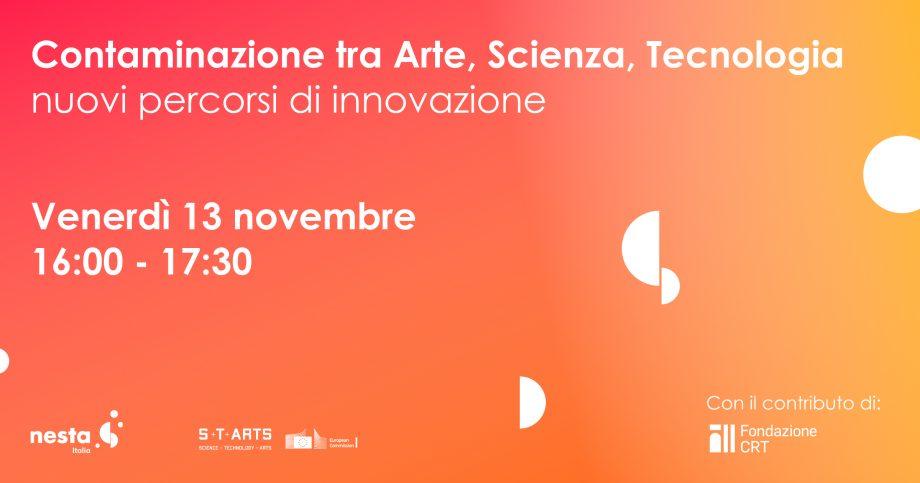 13 novembre: talk online gratuito sul progetto S+T+ARTS della Commissione Europea