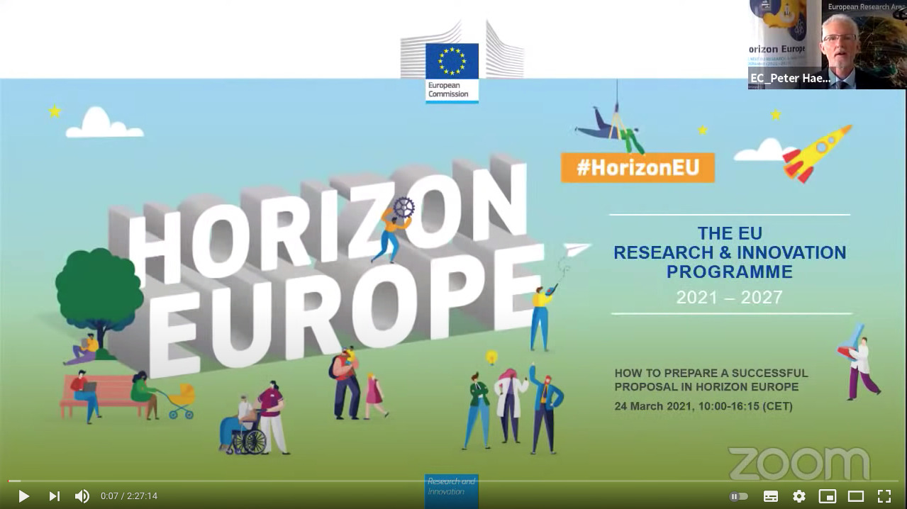 How to prepare a successful proposal in Horizon Europe – Morning Session