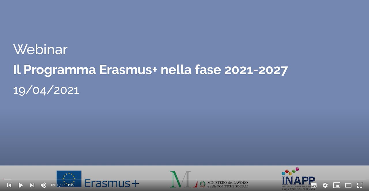 Il Programma Erasmus+ nella fase 2021 2027